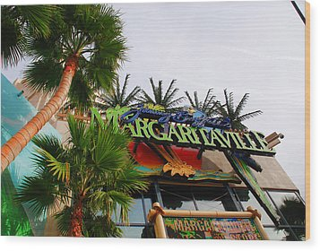 Jimmy Buffets Margaritaville In Las Vegas Wood Print