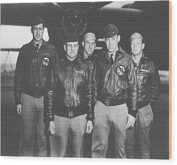 Jimmy Doolittle And His Crew Wood Print by War Is Hell Store
