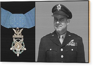 Jimmy Doolittle And The Medal Of Honor Wood Print by War Is Hell Store