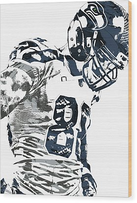 Jimmy Graham Seattle Seahawks Pixel Art 2 Wood Print by Joe Hamilton