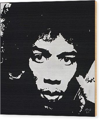 Jimmy Hendrix Wood Print by Leeann Stumpf