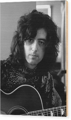 Jimmy Page 1970 Wood Print