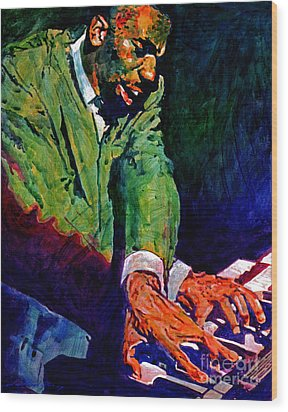 Jimmy Smith Root Down Wood Print by David Lloyd Glover