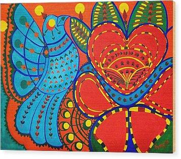 Jinga Bird - Jinga Bird Series Wood Print