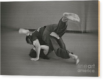 Jiu Jitsu Wood Print