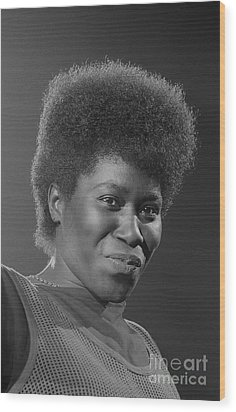 Joan Armatrading 4 Wood Print by Philippe Taka