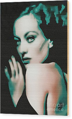 Joan Crawford - Pop Art Wood Print by Ian Gledhill