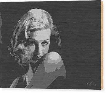 Joan Geraldine Bennett Wood Print