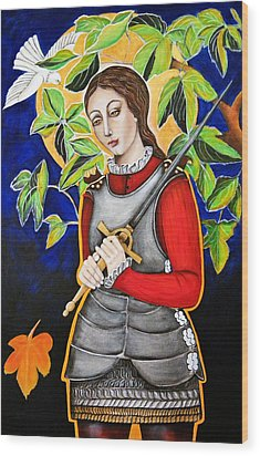 Joan Of Arc Wood Print by Christina Miller