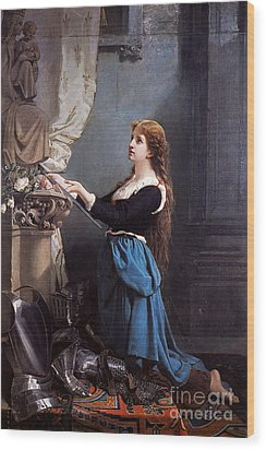 Joan Of Arc  Wood Print by Photo Researchers