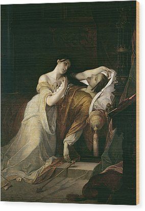 Joanna The Mad With Philip I The Handsome Wood Print by Louis Gallait