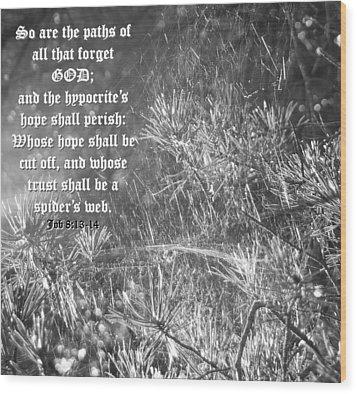 Job Eight Thirteen And Fourteen Wood Print by D R TeesT
