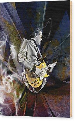 Joe Bonamassa Blues Guitarist Wood Print by Marvin Blaine