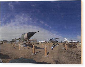 Joe Davies Heritage Airpark Palmdale Wood Print by Brian Lockett