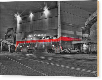Joe Louis Arena Detroit Mi Wood Print by Nicholas  Grunas