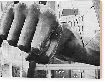 Joe Louis Fist - Detroit Wood Print by Alanna Pfeffer