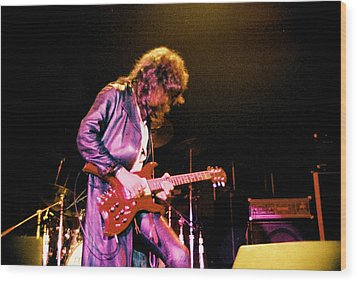Joe Perry Project -2 Circa 1981-82 Wood Print by Steve Pimpis
