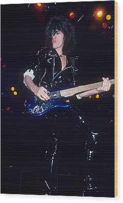 Joe Perry Wood Print by Rich Fuscia