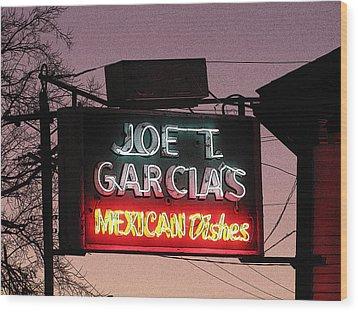 Joe T Garcia's Wood Print by Shawn Hughes