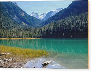 Joffre Lake Horizontal Wood Print
