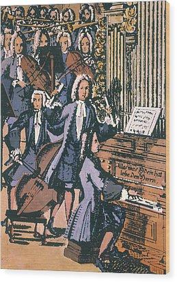 Johann Sebastian Bach, 1732 Wood Print by Granger