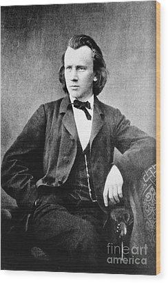 Johannes Brahms, German Composer Wood Print by Omikron
