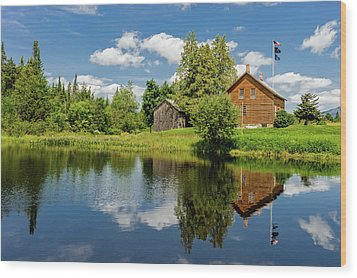 Wood Print featuring the photograph John Brown Home And Farm  -  Johnbrownfarm172570 by Frank J Benz