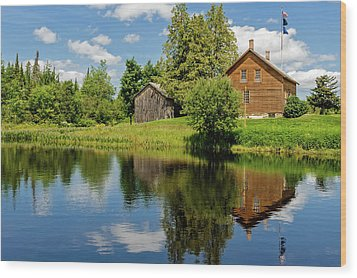 Wood Print featuring the photograph John Brown Home And Farm  -  Johnbrownfarm172583 by Frank J Benz