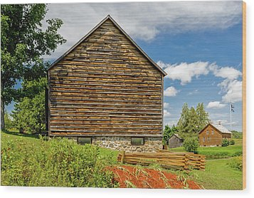 Wood Print featuring the photograph John Brown Home And Farm  -  Johnbrownfarm172588 by Frank J Benz