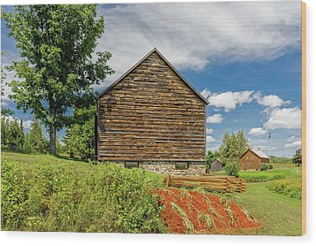 Wood Print featuring the photograph John Brown Home And Farm  -  Johnbrownhome172589 by Frank J Benz