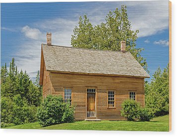 Wood Print featuring the photograph John Brown Home And Farm  -  Johnbrownhome172590 by Frank J Benz