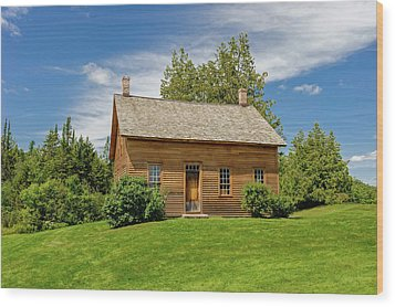 Wood Print featuring the photograph John Brown Home And Farm  -  Johnbrownhome172591 by Frank J Benz