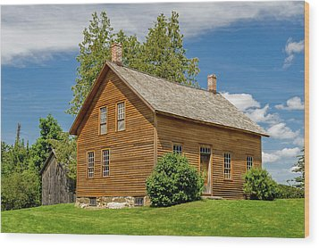 Wood Print featuring the photograph John Brown Home And Farm  -  Johnbrownhome172595 by Frank J Benz