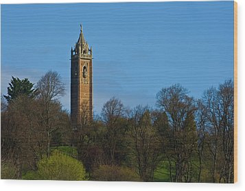 John Cabot Tower Wood Print by Brian Roscorla