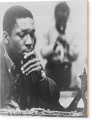 John Coltrane 1926-1967, Master Jazz Wood Print by Everett