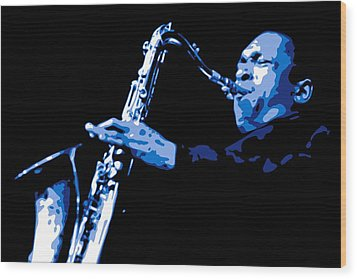 John Coltrane Wood Print by DB Artist