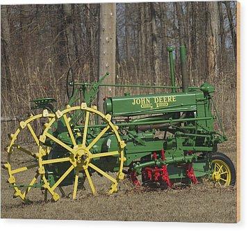 John Deer Tractor Wood Print