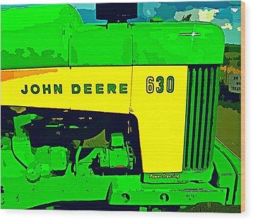 John Deere 630 Wood Print by John Gerstner