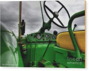 Wood Print featuring the photograph John Deere 830 Dash by Trey Foerster