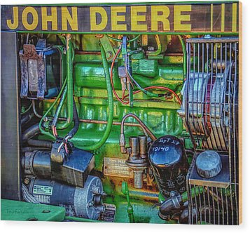 John Deere Engine Wood Print