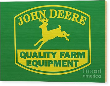 John Deere Farm Equipment Sign Wood Print by Randy Steele