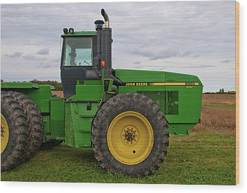 Wood Print featuring the photograph John Deere Green 3159 by Guy Whiteley