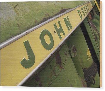 John Deere Wood Print by Jeffery Ball