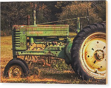 John Deere Retired Wood Print