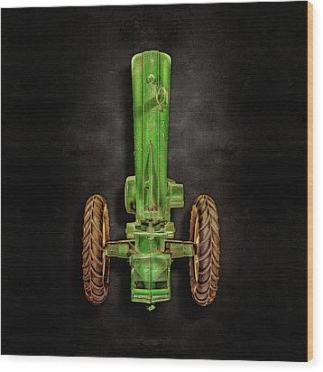 John Deere Top On Black Wood Print by YoPedro