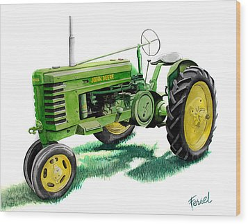 John Deere Tractor Wood Print by Ferrel Cordle