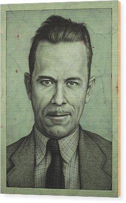 John Dillinger Wood Print by James W Johnson