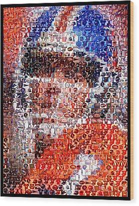 John Elway Mosaic Wood Print by Paul Van Scott