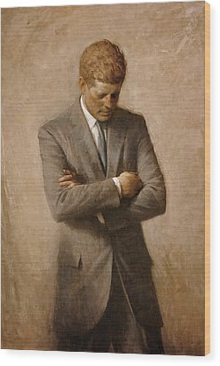 John F Kennedy Wood Print by War Is Hell Store