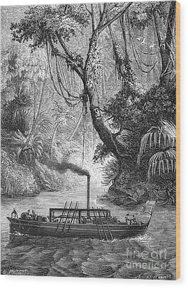 John Fitch Steamboat Wood Print by Granger